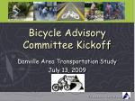 Bicycle Advisory Committee Kickoff