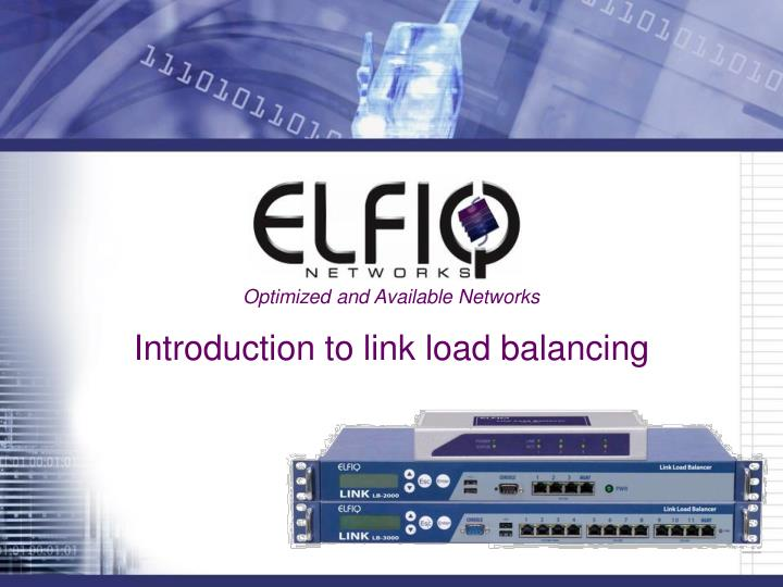 introduction to link load balancing n.