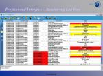 Professional Interface – Monitoring List View