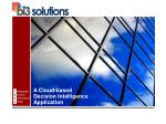 A Cloud-based  Decision Intelligence  Application
