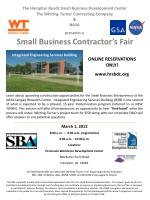 The Hampton Roads Small Business Development Center The Whiting-Turner Contracting Company & NASA