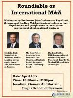 Roundtable on International M&A