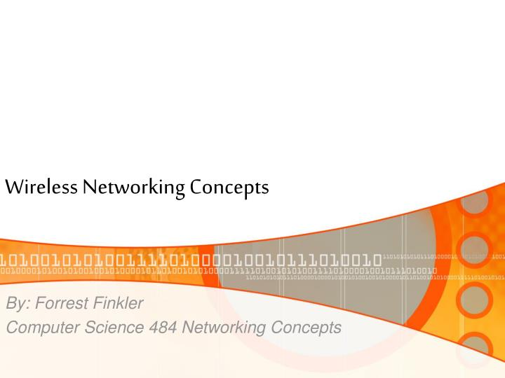 wireless networking concepts n.