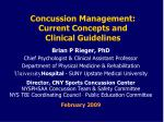 Concussion Management: Current Concepts and Clinical Guidelines