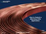 How to Submit a Matching Gifts Application