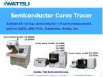 - Contribute to development of the power electronics – Curve tracer CS series