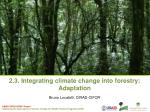 2.3. Integrating climate change into forestry:  Adaptation