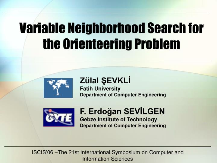 variable neighborhood search for the orienteering problem n.