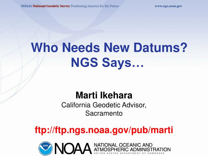 who needs new datums ngs says n.