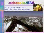 welcome to NEPAL