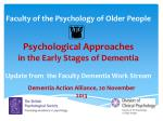 Dementia Action Alliance, 20 November 2013