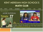 Kent Meridian High school's  Math Club
