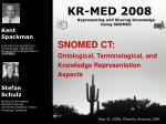 SNOMED CT: Ontological, Terminological, and Knowledge Representation Aspects