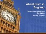 Absolutism in England