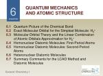 QUANTUM MECHANICS AND ATOMIC STRUCTURE