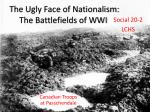 The Ugly Face of Nationalism: The Battlefields of WWI