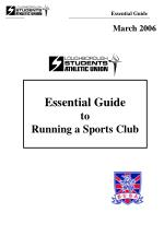 Essential Guide to  Running a Sports Club