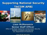 Supporting National Security TACOM APBI