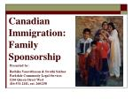Canadian Immigration: Family Sponsorship