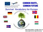Survival Vocabulary for Europe