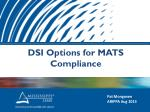 DSI Options for MATS Compliance