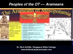 Peoples of the OT –– Arameans