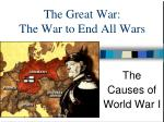 The Great War: The War to End All Wars