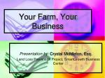 Your Farm, Your Business