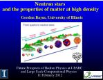 Neutron stars and the properties of matter at high density