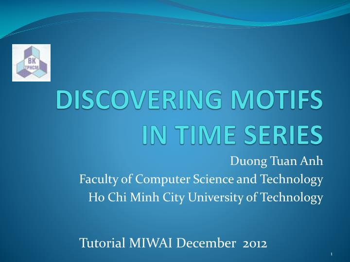 discovering motifs in time series n.