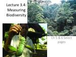 Lecture 3.4: M easuring Biodiversity
