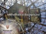 Mathematical Background