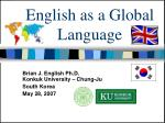 English as a Global Language