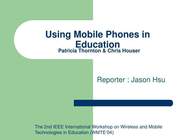 using mobile phones in education n.