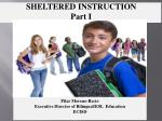 SHELTERED INSTRUCTION Part I