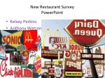 New Restaurant Survey PowerPoint