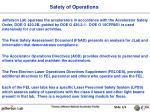 Safety of Operations