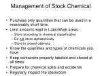 Management of Stock Chemical
