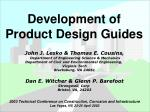 Development of Product Design Guides
