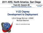 V-22 Osprey Development to Deployment