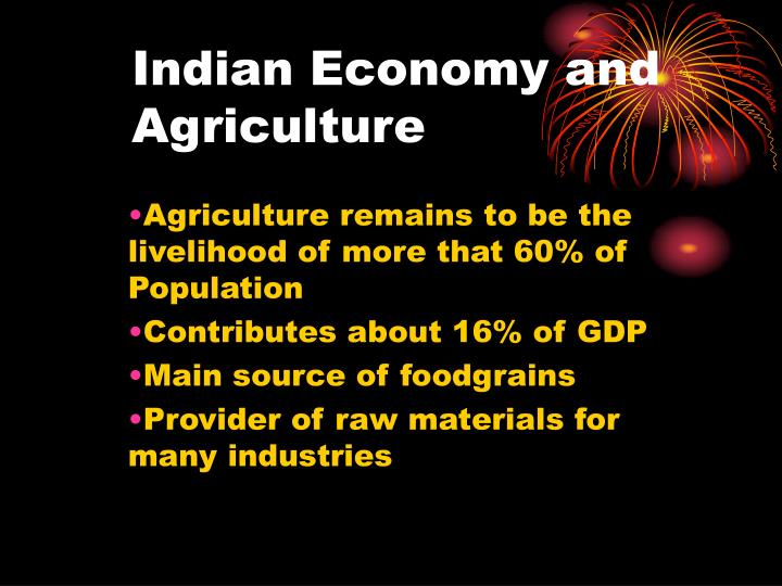 indian economy and agriculture n.