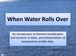 When Water Rolls Over