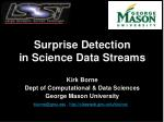 Surprise Detection in Science Data Streams