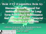 California Integrated Waste Management Board Strategic Policy Committee June 10, 2008