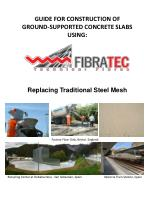 GUIDE FOR CONSTRUCTION OF  GROUND-SUPPORTED CONCRETE SLABS USING: