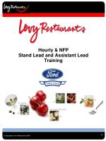 Hourly & NFP  Stand Lead and Assistant Lead Training