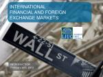INTERNATIONAL FINANCIAL AND FOREIGN EXCHANGE MARKETS