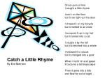 Catch a Little Rhyme By Eve Merriam