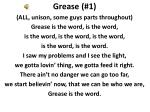 Grease (# 1 )