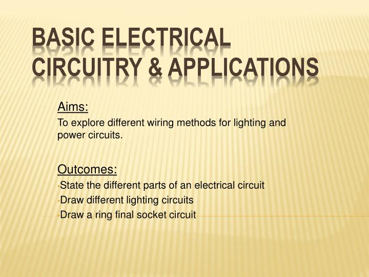 Incredible Electrical Wiring Methods Ppt Schema Wiring Diagram Wiring 101 Cajosaxxcnl